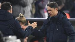Erleichtert:Bayern-Coach Niko Kovac (r.) und Sportdirektor Hasan Salihamidzic