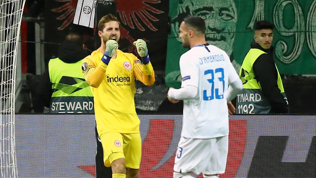 Kevin Trapp will im Rückspiel in Mailand mit der SGE jubeln