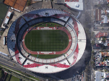 Vista aérea del Monumental de Buenos Aires, Argentina. (Foto: Getty)
