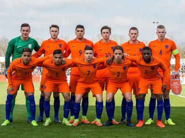 Dit zijn de mannen die kwalificatie voor het EK u19 moeten afdwingen tegen Finland. (23-03-2017)