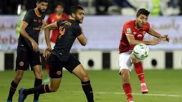 Mohamed Sherif (r) erzielte den Führungstreffer