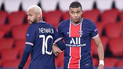Starstürmer von Paris Saint-Germain: Neymar (l.) und Kylian Mbappe
