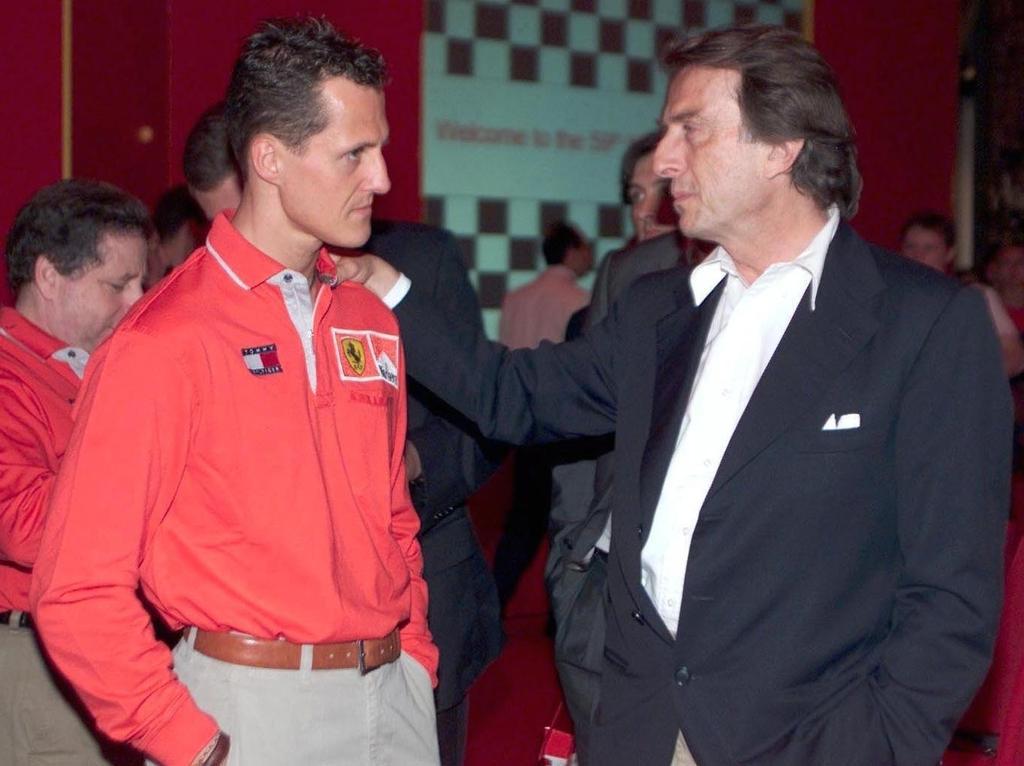 So gerne hätte di Montezemolo (re.) Michael Schumacher ins Cockpit zurückgeholt