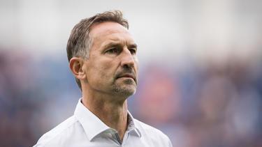 Regensburg-Trainer Achim Beierlorzer war nach der Pleite bedient