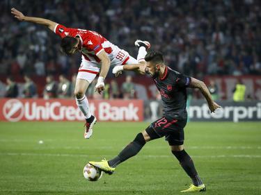 Giroud dio la victoria al Arsenal en Skopje. (Foto: Getty)