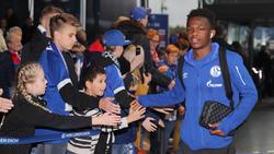 Rabbi Matondo freut sich über die bislang gute Saison des FC Schalke 04