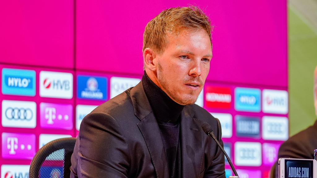 Trainer Julian Nagelsmann muss mit dem FC Bayern bei der SpVgg Greuther Fürth ran