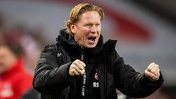 Markus Gisdol und der 1. FC Köln haben im Moment allen Grund zur Freude