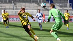 Leo Weinkauf (r.) tritt mit dem MSV Duisburg gegen den BVB an