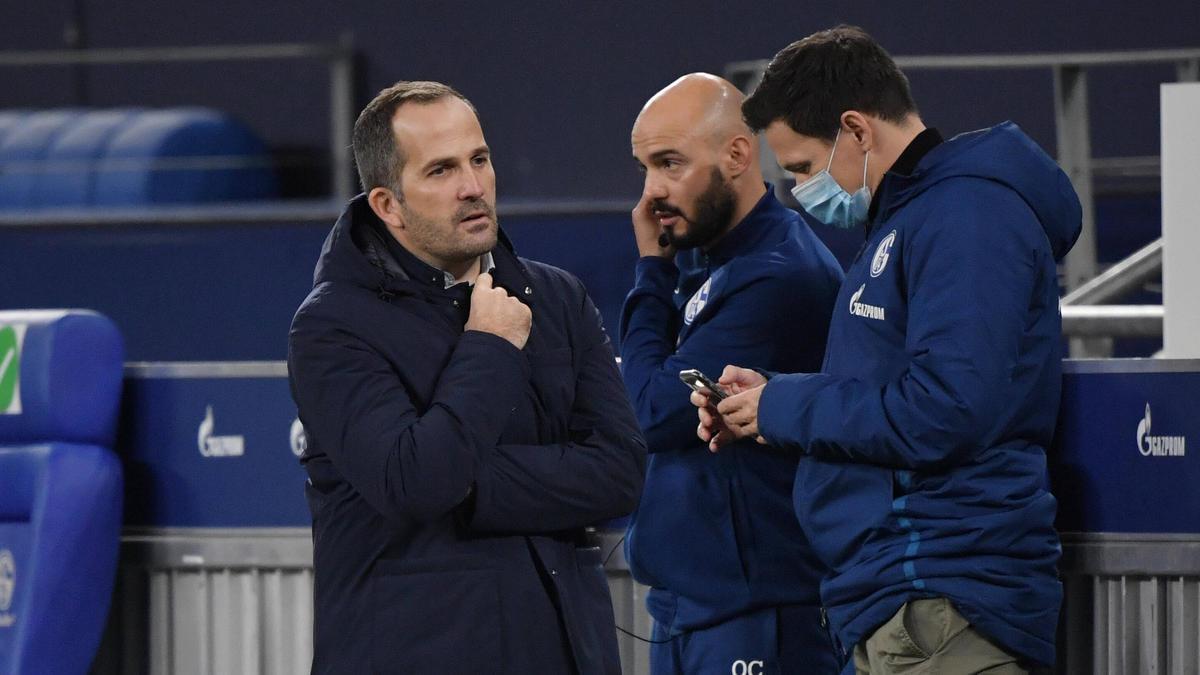 Manuel Baum (l.) und Sascha Riether haben erkannt, dass der FC Schalke 04 kämpfen muss
