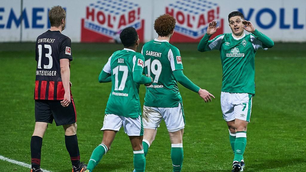 Werder Bremen setzte sich gegen Eintracht Frankfurt durch