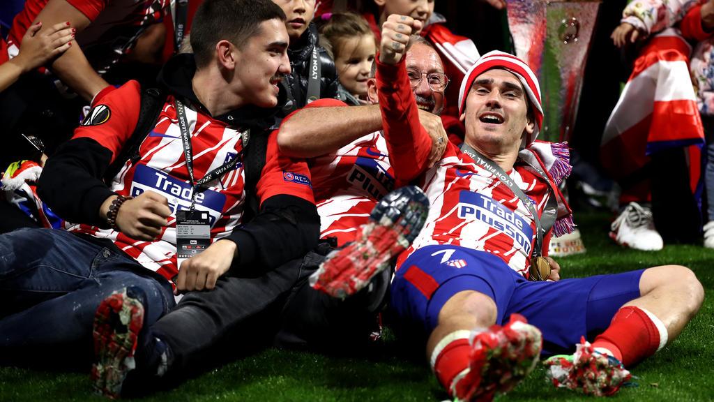 Antonie Griezmann gewann mit Atlético Madrid die Europa League
