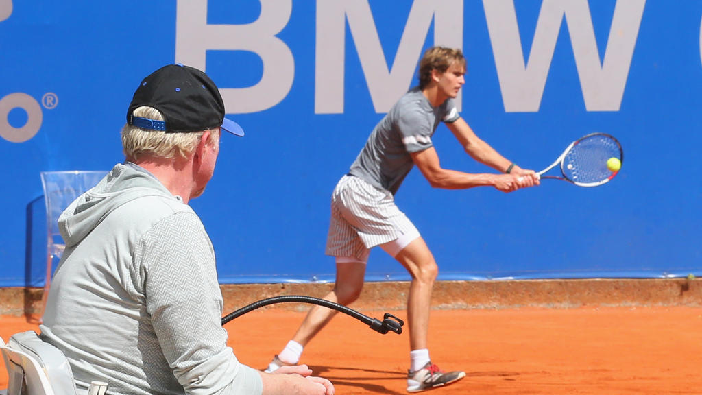 Boris Becker verfolgt die Entwicklung von Alexander Zverev genauestens