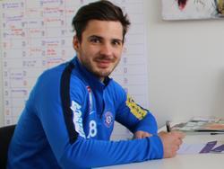 Christoph Martschinko freut sich über seinen neuen Vertrag. © FK Austria Wien