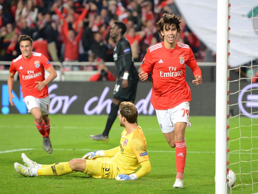 Benfica-Jungstar João Félix hatte mit der Eintracht seinen Spaß. © Getty Images/Otávio Passos