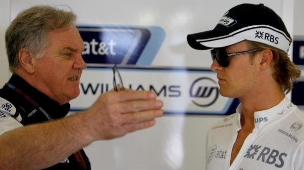 Klare Ansage: Patrick Head im Gespräch mit Formel-1-Fahrer Nico Rosberg