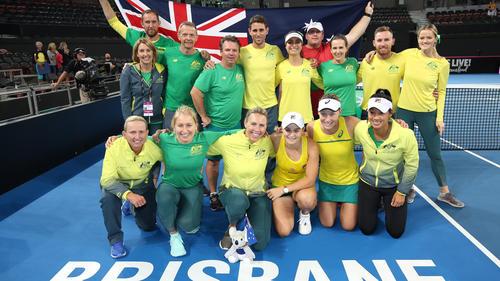 Das australische Fed-Cup-Team siegte gegen Weißrussland