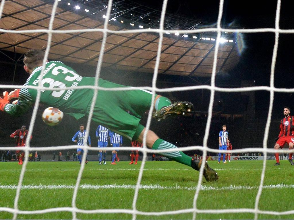 Jonathan Klinsmann rettete Hertha BSC das Remis gegen Östersund