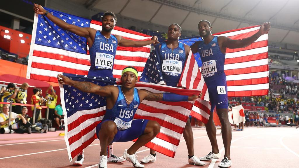 Die US-amerikanische Staffel holte in Doha WM-Gold
