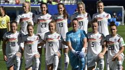 Die deutschen Frauen müssen gegen Australien womöglich ohne Alexandra Popp (oben rechts) auskommen