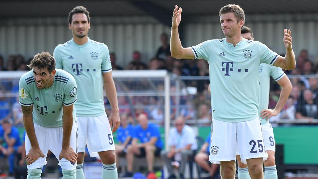 Bild mit Symbolcharakter: Der FC Bayern hadert!