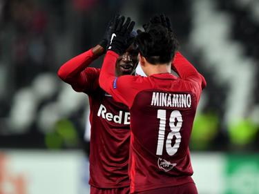 Salzburgs Takumi Minamino traf gegen Rosenborg dreifach