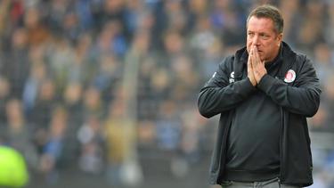 Markus Kauczinski kam mit dem FC St. Pauli nicht über ein Remis hinaus