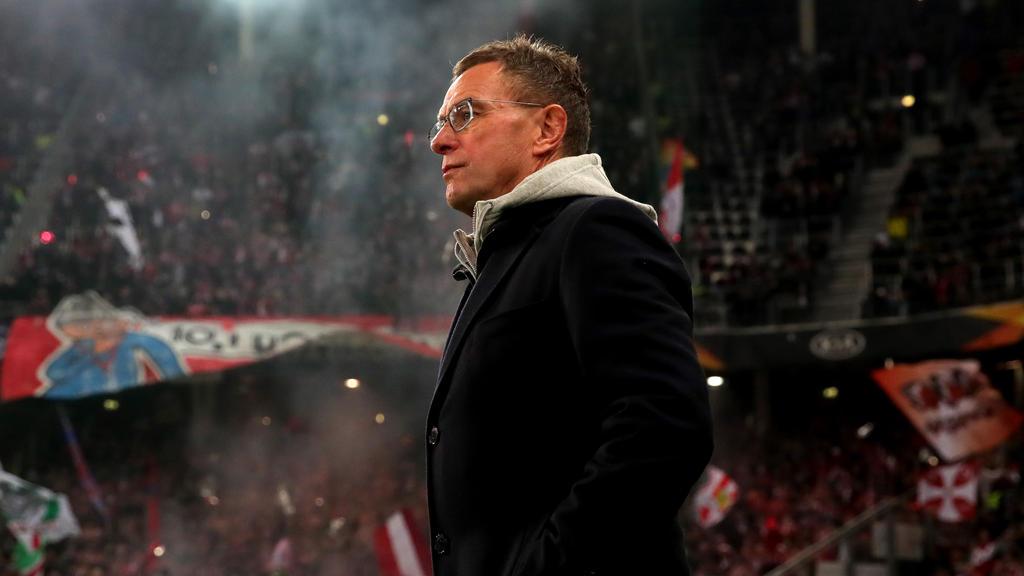 Ralf Rangnick droht mit RB Leipzig das Aus in der Europa League
