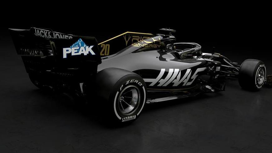 So sieht die neue Lackierung des Haas-Teams für die Formel-1-Saison 2019 aus
