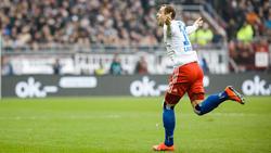 Pierre-Michel Lasogga wurde im Derby gegen St. Pauli zum HSV-Matchwinner