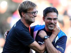 David Wagner (r.) will mit Huddersfield aufsteigen - auch dank Jürgen Klopp?