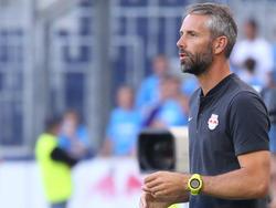 Salzburgs Trainer Marco Rose fordert einen Zu-Null-Sieg