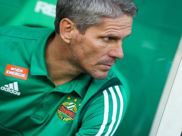 Rapid-Trainer Dietmar Kühbauer will die drei Punkte in Hütteldorf behalten
