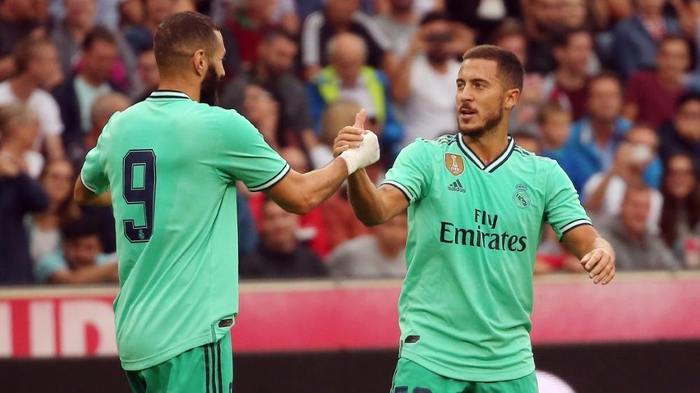 Real Madrid läuft gegen Espanyol in grünen Trikots auf