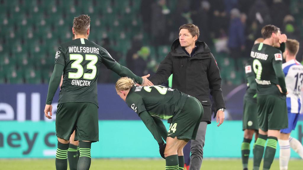 Oliver Glasner verlor mit dem VfL Wolfsburg gegen Hertha BSC