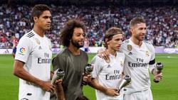 Marcelo (2.v.l.) steht bereits seit 2007 bei Real Madrid unter Vertrag