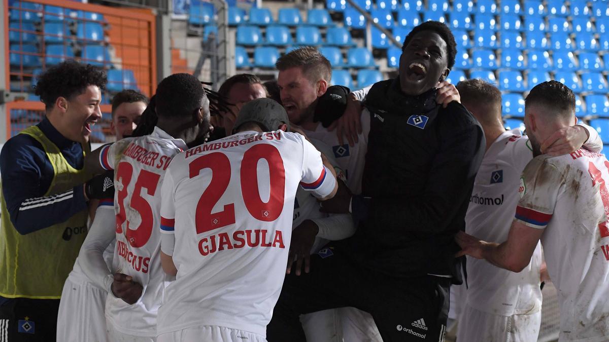 Der HSV jubelte über den Sieg gegen den VfL Bochum