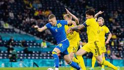 Artem Dovbyk erzielte den erlösenden Siegtreffer für die Ukraine