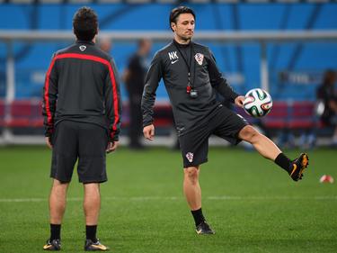 Kovac (dcha.) durante una sesión de entrenamiento del combinado croata en el pasado Mundial. (Foto: Getty)