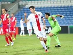 Robert Lewandowski bejubelt seinen ersten Treffer - drei sollten noch folgen.