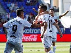Alex Gallar consiguió los dos tantos del equipo aragonés. (Foto: Imago)