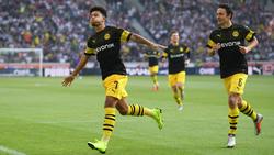 Laut Thomas Delaney (r.) hat BVB-Ass Jadon Sancho eine große Zukunft vor sich
