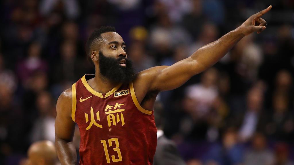Rockets-Superstar James Harden gelangen 44 Punkte