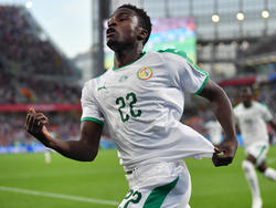 Moussa Wague celebra un tanto en el Mundial con Senegal. (Foto: Getty)