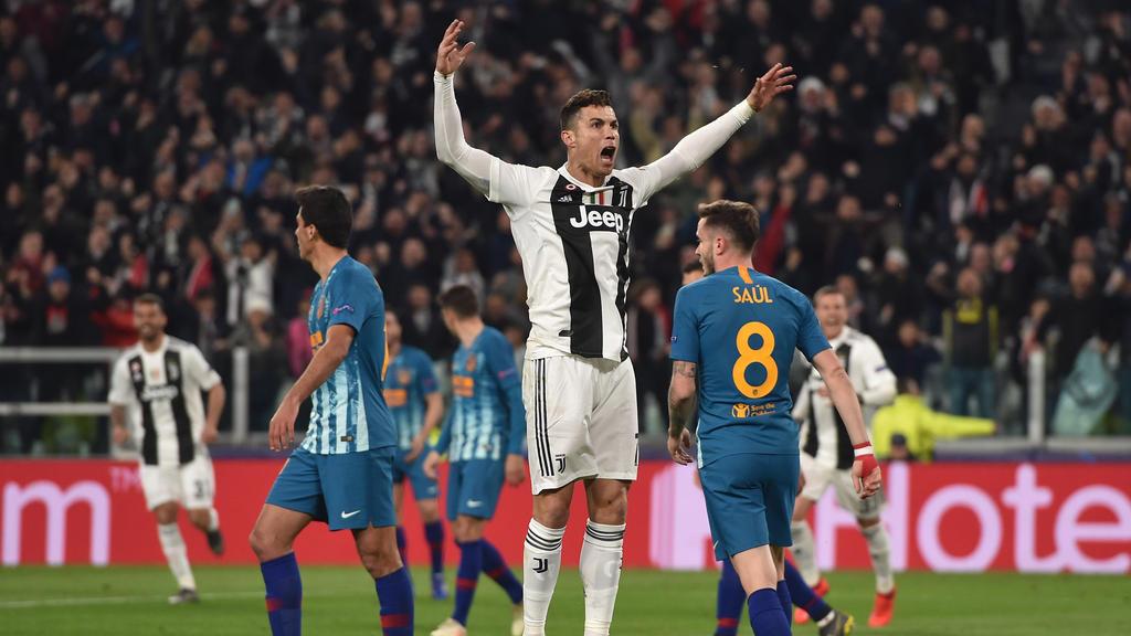 Cristiano Ronaldo schnürte gegen Atlético Madrid einen Dreierpack