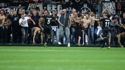 Einige Frankfurter schlugen beim Feiern etwas über die Strenge