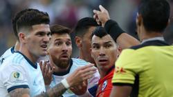 Lionel Messi musste in der 37. Minute mit Rot vom Platz