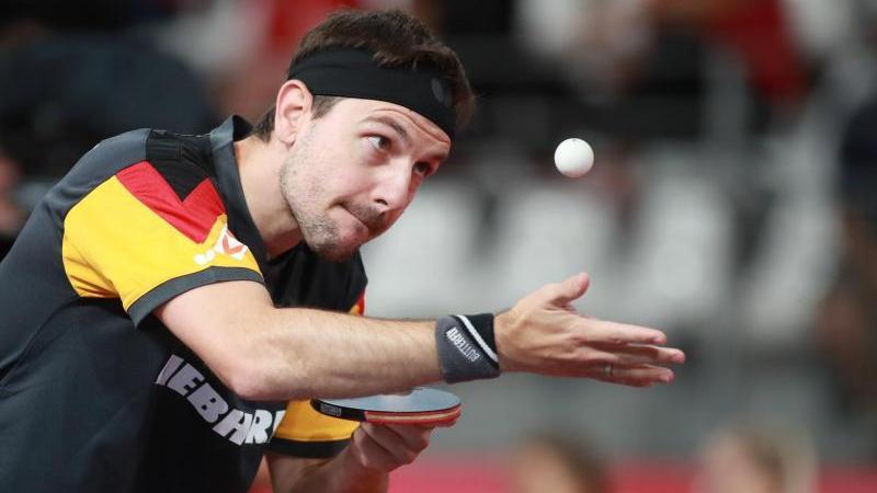 Timo Boll brachte das deutsche Team gegen Frankreichs Nummer eins Simon Gauzy in Führung