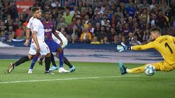 Ousmane Dembélé erzielte das zwischenzeitliche 3:0 für den FC Barcelona
