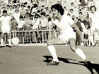Goyo Benito en uno de sus encuentros con el Madrid.